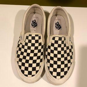 OG Slip On LX Checkerboard Vans - Sz 9.5